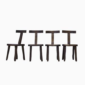 Dining Chairs by Olavi Häninnen for Mikko Nupponen, 1950s, Set of 4