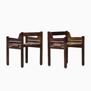Chaises Mid-Century en Palissandre par Jean Gillon pour Wood Art, Set de 2
