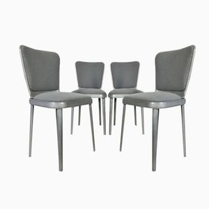 Mid-Century Polished Aluminum Dining Chairs by Edwin Clinch, Set of 4