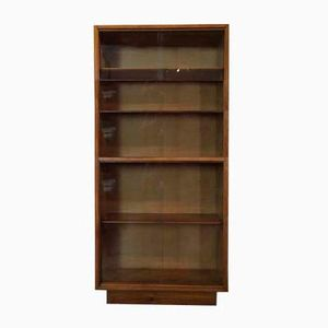Mid-Century Oak School Shelved Bookcase, 1950s