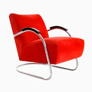 Dutch EMS Bauhaus Easy Chair, 1930s