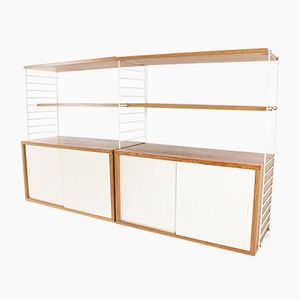 Oak Modular Wall Unit by Nisse Strinning for String, 1960s