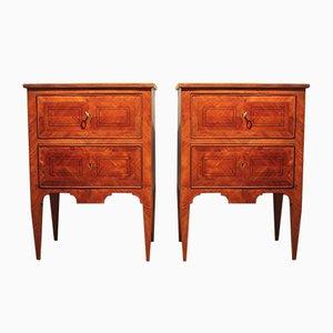 Antique Italian Louis XVI Revival Bedside Tables, Set of 2