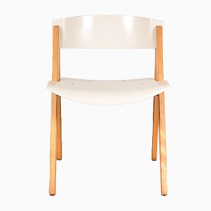 Beech and Plywood Dining Chair, 1970s