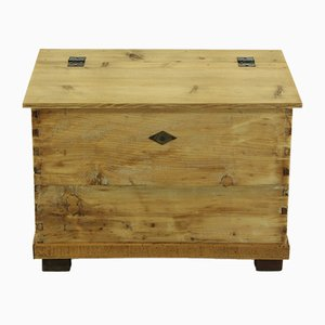 Antique Small Wooden Trunk
