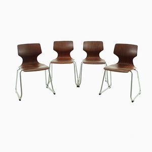 Esszimmerstühle von Flötotto, 1970er, 4er Set