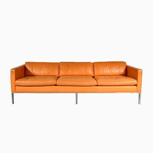C905 Cognac Leather Sofa by Kho Liang Ie for Artifort