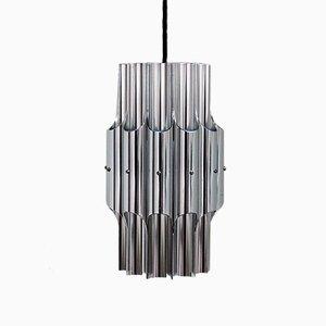 Lampe à Suspension Pan Vintage en Aluminium par Bent Karlby pour Lyfa