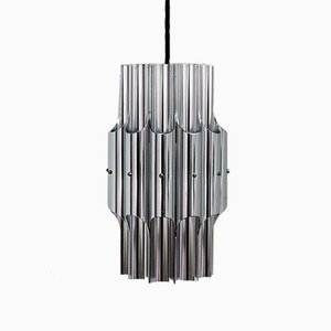 Vintage Pan Aluminum Pendant by Bent Karlby for Lyfa