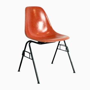 DSS Stuhl in Blutorange von Charles & Ray Eames für Herman Miller