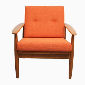 Vintage Orange Armchair, 1960s