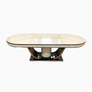 Table Art Déco en Peau de Chêvre