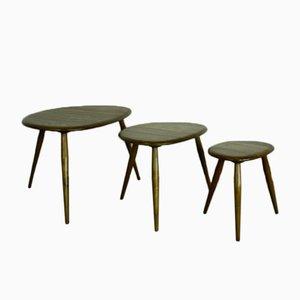 Tables Pebble Vintage par Lucian Ercolani pour Ercol, Set de 3