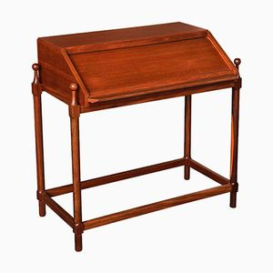 Teak Desk with Rolling Compartment by Fratelli Proserpio, 1960s