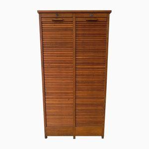 Oak Shutter Cupboard with Two Doors, 1950s