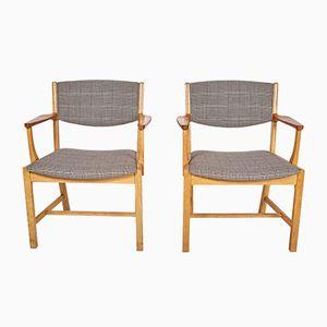 Danish Oak Armchairs from Soro Stolefabrik, 1960s, Set of 2