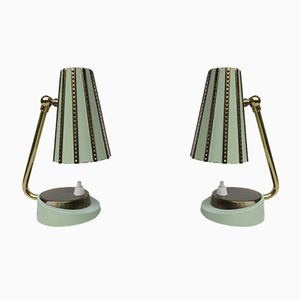 Italian Night Stand Lamps, 1950s, Set of 2