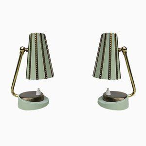 Italienische Nachttischlampen, 1950er, 2er Set