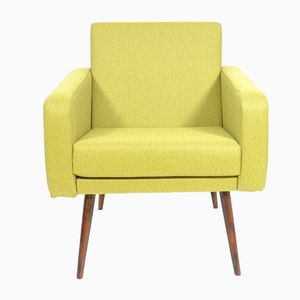 Kubusförmiger Sessel in Limette, 1960er