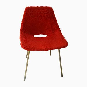 Red Tonneau Chair by Pierre Guariche for Steiner, 1953