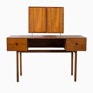 Danish Modern Dressing Table and Mirror by Kai Kristiansen for Axel Kjersgaard