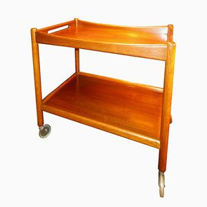 Vintage Model AT45 Teak Bar Trolley by Hans J. Wegner for Andreas Tuck