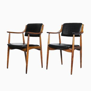 Chaises Cabinet Moderne en Teck, Danemark, 1960s, Set de 2