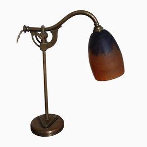 Art Nouveau Bronze Desk Lamp from Daum Nancy