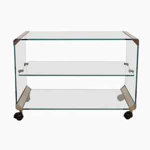 Serving Trolley in Glass from Gallotti & Radice, 1970s
