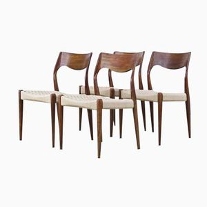 Mid-Century Dining Chairs by Niels Otto Møller for J.L. Møller, Set of 4