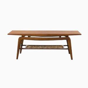 Table Basse en Teck avec Pieds en Forme de Boomerang, 1950s