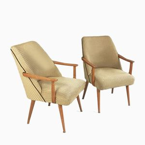 Mid-Century Belgian Lounge Chairs, Set of 2