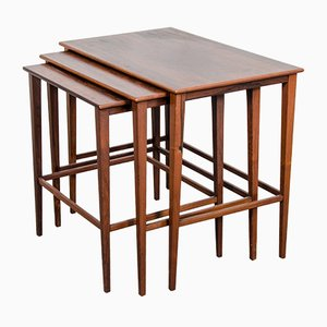 Danish Matching Teak Nesting Tables, 1960s
