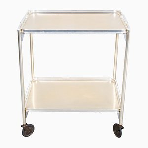 Drinks Trolley in Aluminum and Brass from Woodmet, 1950s