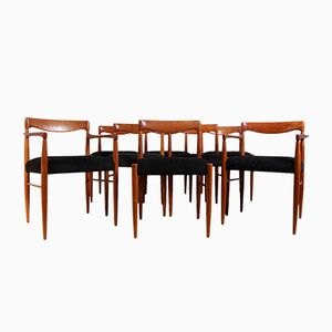 Teak Dining Chairs by H. W. Klein for Bramin, 1960s, Set of 8