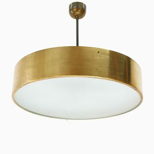 Large Vintage Ceiling Light in Brass