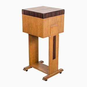 Art Deco Oak and Coromandel Side Table, 1920s