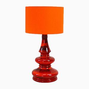 Vintage Tischlampe in Rot & Orange, 1960er