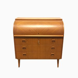 Roll Top Secretaire Desk from Bröderna Gustafssons, 1950s