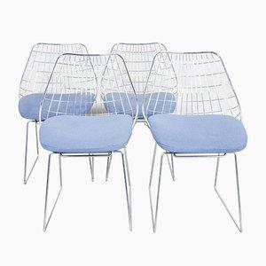 SE05 Draht Esszimmerstühle von Cees Braakman für Pastoe, 1950er, 4er Set