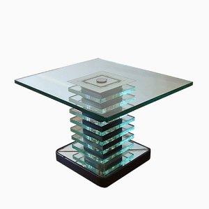 Italian Glass Coffee Table, 1960s