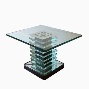 Table Basse en Verre, Italie, 1960s