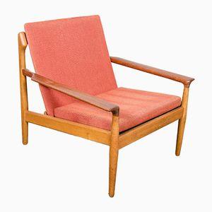Vintage Oak Lounge Chair by Aksel Bender Madsen for Bovenkamp