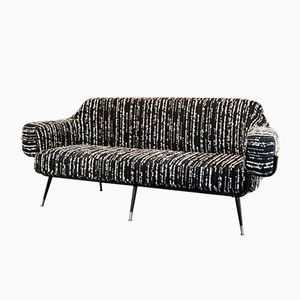 Italian Black Steel Sofa, 1970s