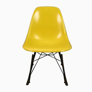 Gelber Schaukelstuhl von Charles & Ray Eames für Herman Miller, 1960er