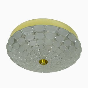 Mid-Century Ceiling Light with Op Art Relief Pattern