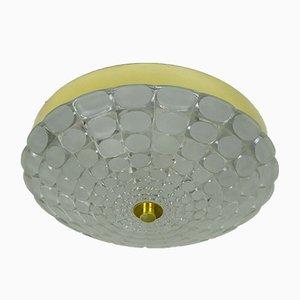 Mid-Century Deckenlampe mit Op Art Relief Muster