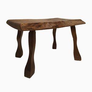 Vintage Solid Oak Organic Side Table, 1960s