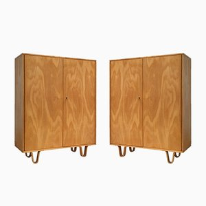 CB06 Birch Plywood Wardrobes by Cees Braakman for Pastoe, 1952, Set of 2