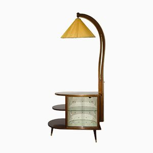 Vintage Art Deco Minibar mit Lampe
